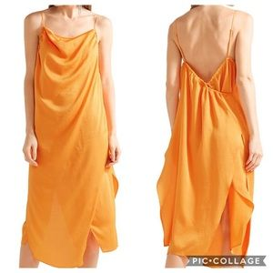 IRO Altara Asymmetric Draped Midi Dress